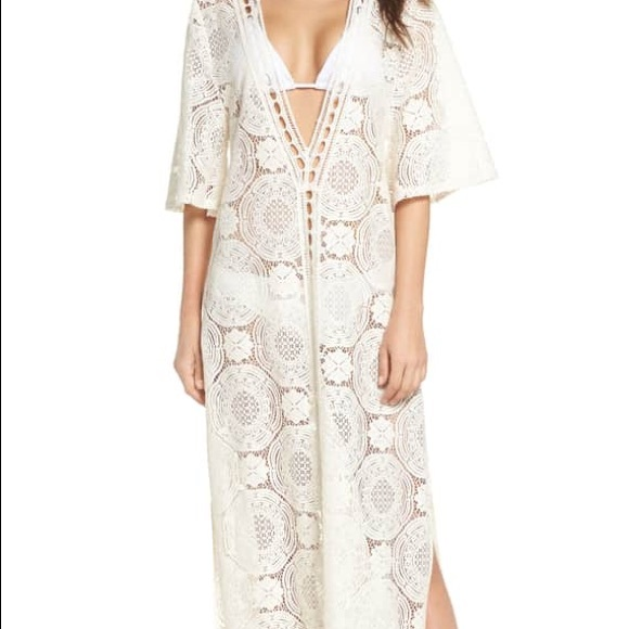 1aad9a2b82 Chelsea28 Other - Chelsea28 Lace Cover-up Maxi Ivory XL